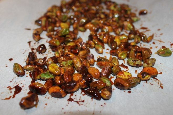 honey roasted pistachios
